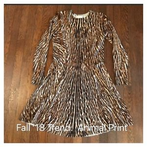 Michael by Michael Kris Animal Print Swing Dress M